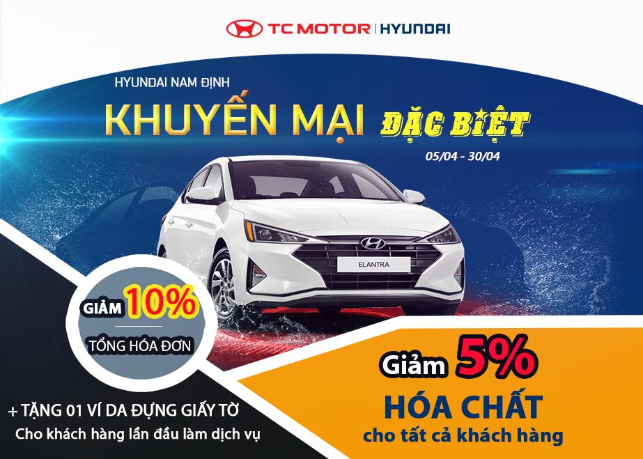 Chương trình Khuyến mại chỉ áp dụng tại Hyundai Nam Định