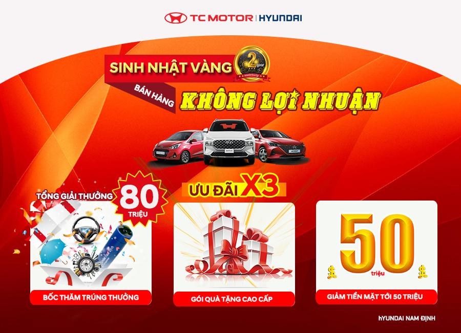 Cực nhiều ưu đãi đang đón chờ khách hàng mua xe tại Hyundai Nam Định