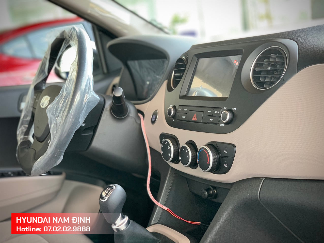 Nội thất tiện nghi của Hyundai Grand i10