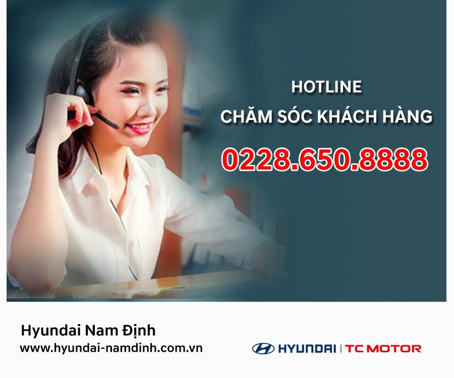 Dịch vụ chăm sóc khách hàng luôn được Hyundai Nam Định chú trọng hàng đầu